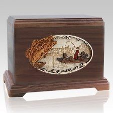 Catch of the Day Walnut Hampton Cremation Urn