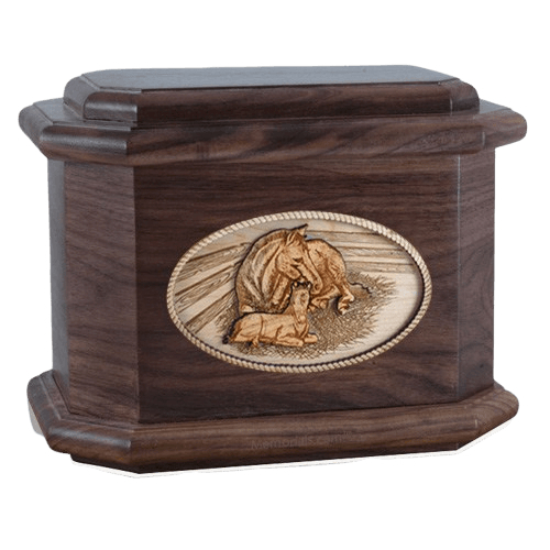 Daddys Love Walnut Octagon Cremation Urn