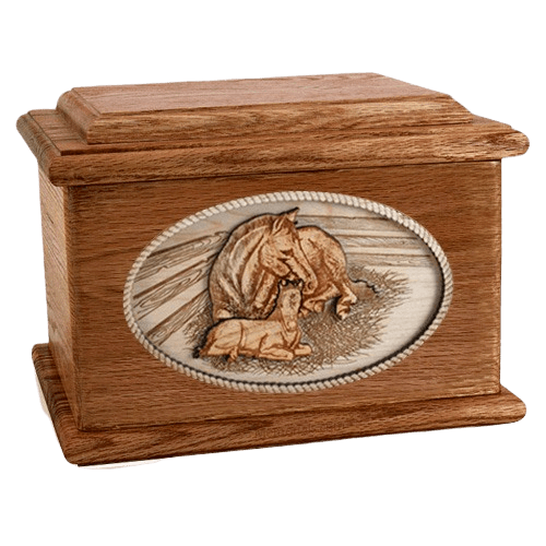 Daddys Love Walnut Memory Chest Cremation Urn