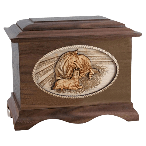 Daddys Love Walnut Cremation Urn