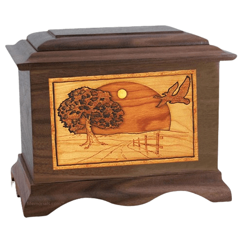 Geese Walnut Cremation Urn
