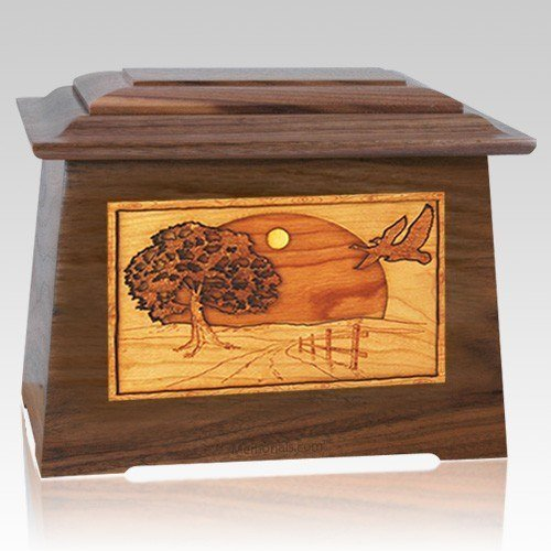 Geese Walnut Aristocrat Cremation Urn