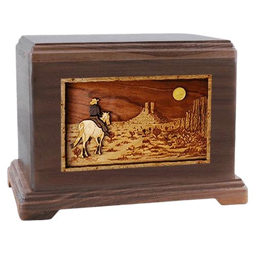 Horse Moon Walnut Hampton Cremation Urn