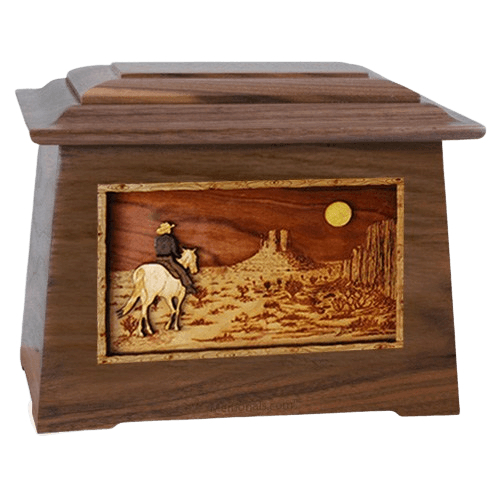 Horse Moon Walnut Aristocrat Cremation Urn