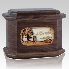 Golf Walnut Octagon Cremation Urn