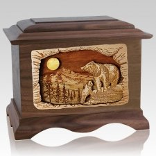 Country Haven Walnut Cremation Urn