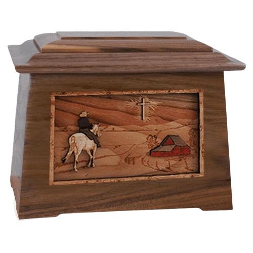 Horse & Cross Walnut Aristocrate Cremation Urn