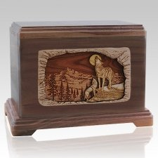 Moonlight Serenade Walnut Hampton Cremation Urn