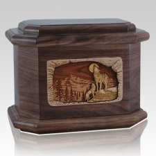 Moonlight Serenade Walnut Octagon Cremation Urn