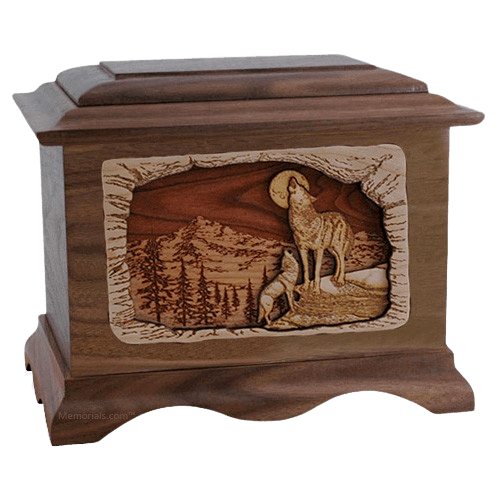Moonlight Serenade Wood Cremation Urns