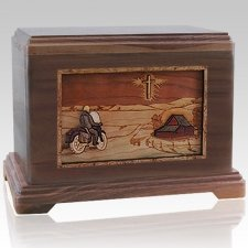 Motorcycle & Cross Cremation Urns For Two