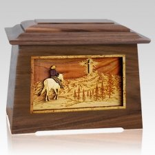 Last Horse Ride Walnut Aristocrat Cremation Urn