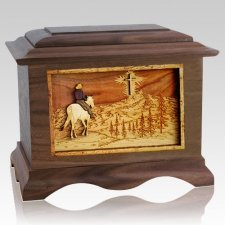 Last Horse Ride Walnut Cremation Urn