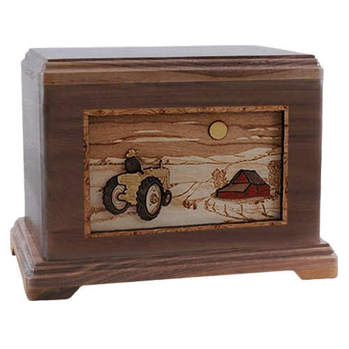 Tractor & Moon Walnut Hampton Cremation Urn
