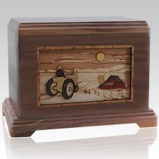 Tractor & Moon Cremation Urns For Two