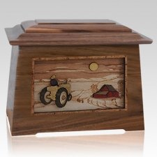 Tractor & Moon Walnut Aristocrat Cremation Urn