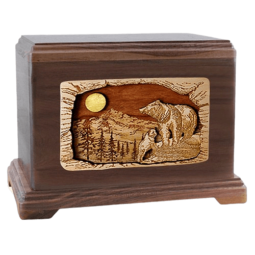 Country Haven Walnut Hampton Cremation Urn