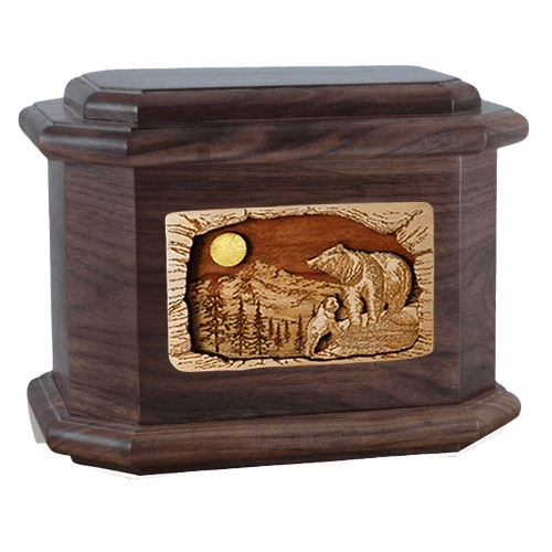 Country Haven Walnut Octagon Cremation Urn