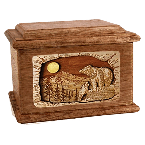 Country Haven Walnut Memory Chest Cremation Urn