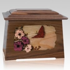 Butterfly Walnut Aristocrat Cremation Urn