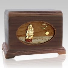 Sailing Home Walnut Hampton Cremation Urn