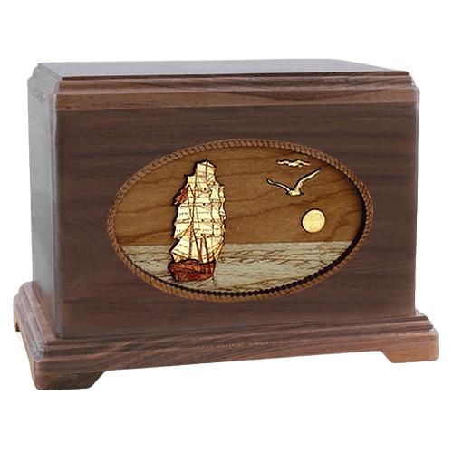 Sailing Home Walnut Hampton Cremation Urn