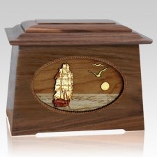 Sailing Home Walnut Aristocrat Cremation Urn