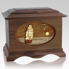 Sailing Home Wood Cremation Urns