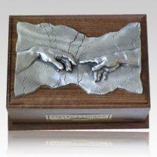 Close to God Walnut & Silver Cremation Urn