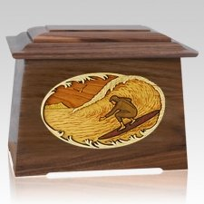 Surfer Walnut Aristocrat Cremation Urn