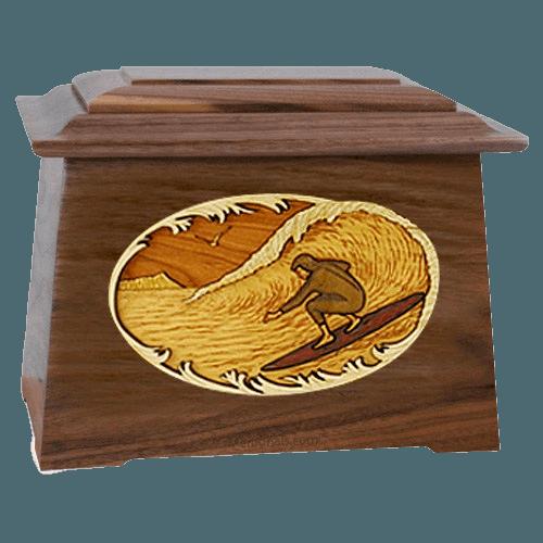 Surfer Walnut Aristocrat Cremation Urn