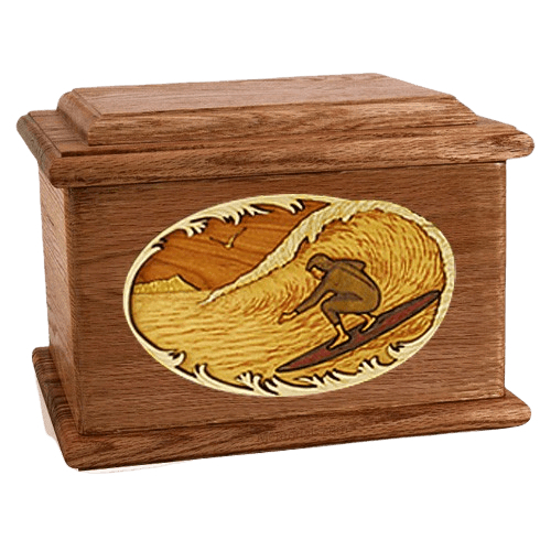 Surfer Walnut Memory Chest Cremation Urn