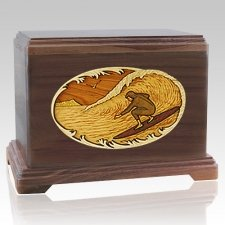 Surfer Walnut Hampton Cremation Urn