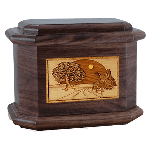Turkey Walnut Octagon Cremation Urn