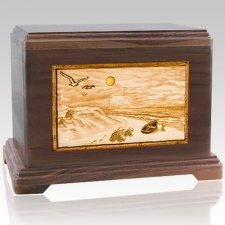 Walk On The Beach Cremation Urns For Two