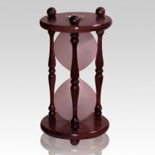 Hourglass Walnut Keepsake Urn