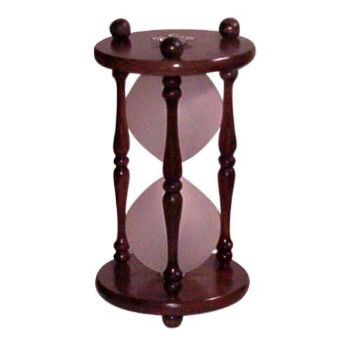 Hourglass Walnut Pet Urn