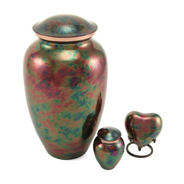 Watercolor Raku Cremation Urns