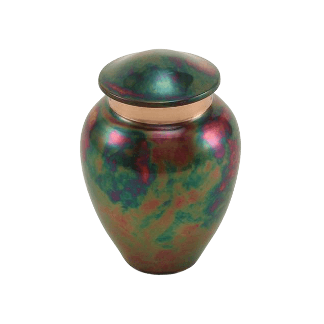 Watercolor Raku Keepsake Cremation Urn