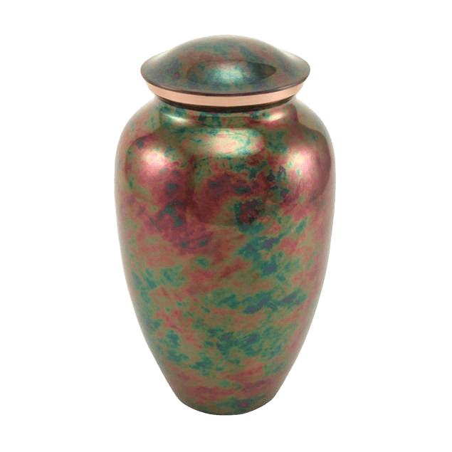 Watercolor Raku Cremation Urn