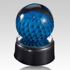 Blue Eternal Weave Glass Keepsake
