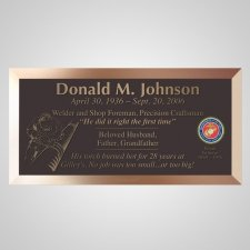 Welder Bronze Plaque