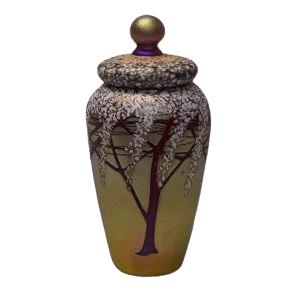 Golden Cherry Cremation Urn