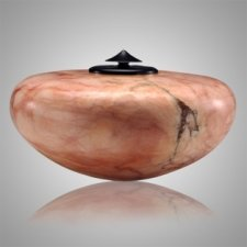 White & Pink Alabaster Cremation Urn