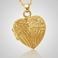 Wing Heart Locket Keepsake Pendant IV