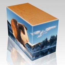 Winter Oak Pet Picture Urn III