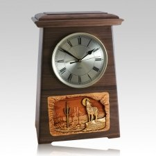 Wolf Astoria Clock Walnut Cremation Urn