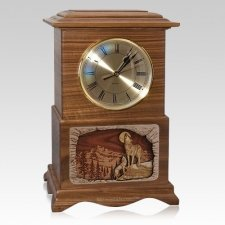 Wolfs Clock Walnut Cremation Urn