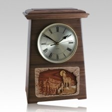 Wolfs Astoria Clock Walnut Cremation Urn