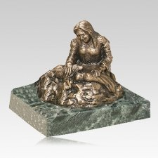 Woman Resting Keepsake Cremation Urn